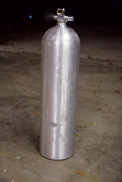 stripping luxfer al80 scuba tank  stage bottle