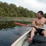 Jeff taking a break from paddling