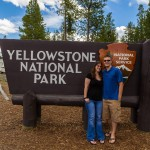 James and Kaitlin at West Entrance to Yellowstone National Park