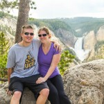 James and Kaitlin in front of Yellowstone Falls