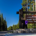 James and Kaitlin at the North entrance to Grand Teton National Park