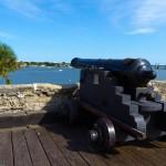 Cannon inside Castillo de San Marcos